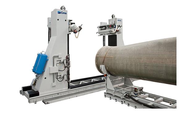 A képen a termék, egy CMS Eos - szélturbina lapát megmunkáló központ látható.