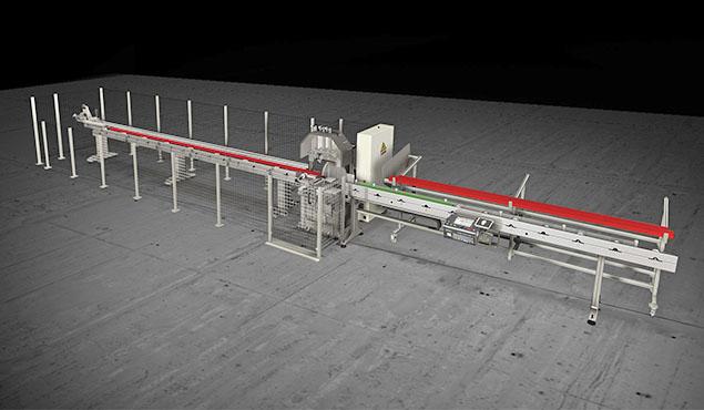 A képen a termék, egy Emmegi Vegamatic félautomata daraboló fűrész látható.