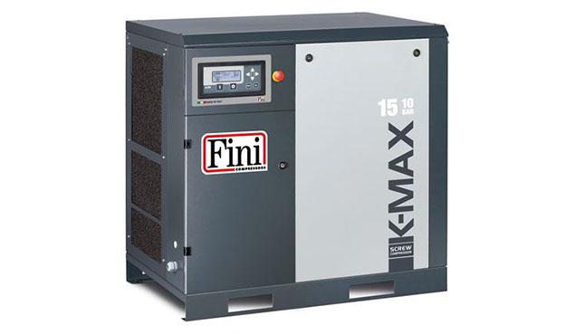 A képen a termék, egy FINI K-MAX 15-10 csavarkompresszor látható.
