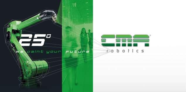 A képen a termék, egy CMA festőrobot látható.
