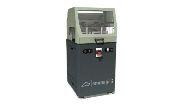 A képen a termék, egy Emmegi SCA Mini/P 400 egyfejes daraboló fűrész látható.