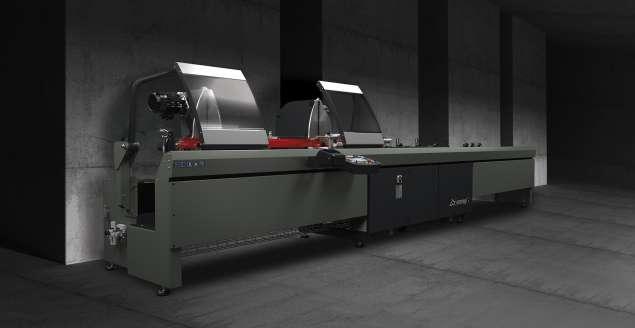 A képen a termék, egy EMMEGI PRECISION C2 550 PÁROS DARABOLÓ FŰRÉSZGÉP látható.