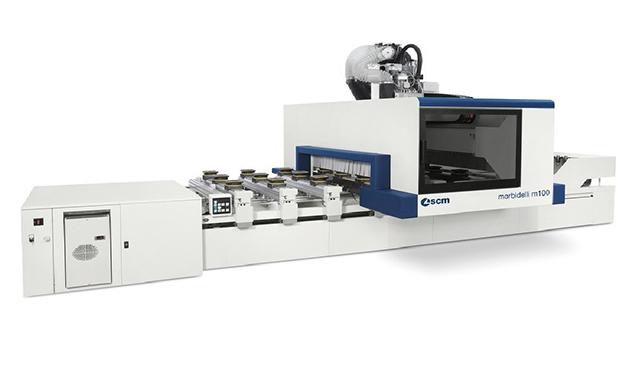 A képen a termék, egy Morbidelli Author M100 és M200 CNC megmunkáló központ látható.