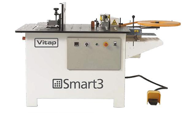 A képen a termék, egy VITAP Smart3 íves élzáró berendezés látható.